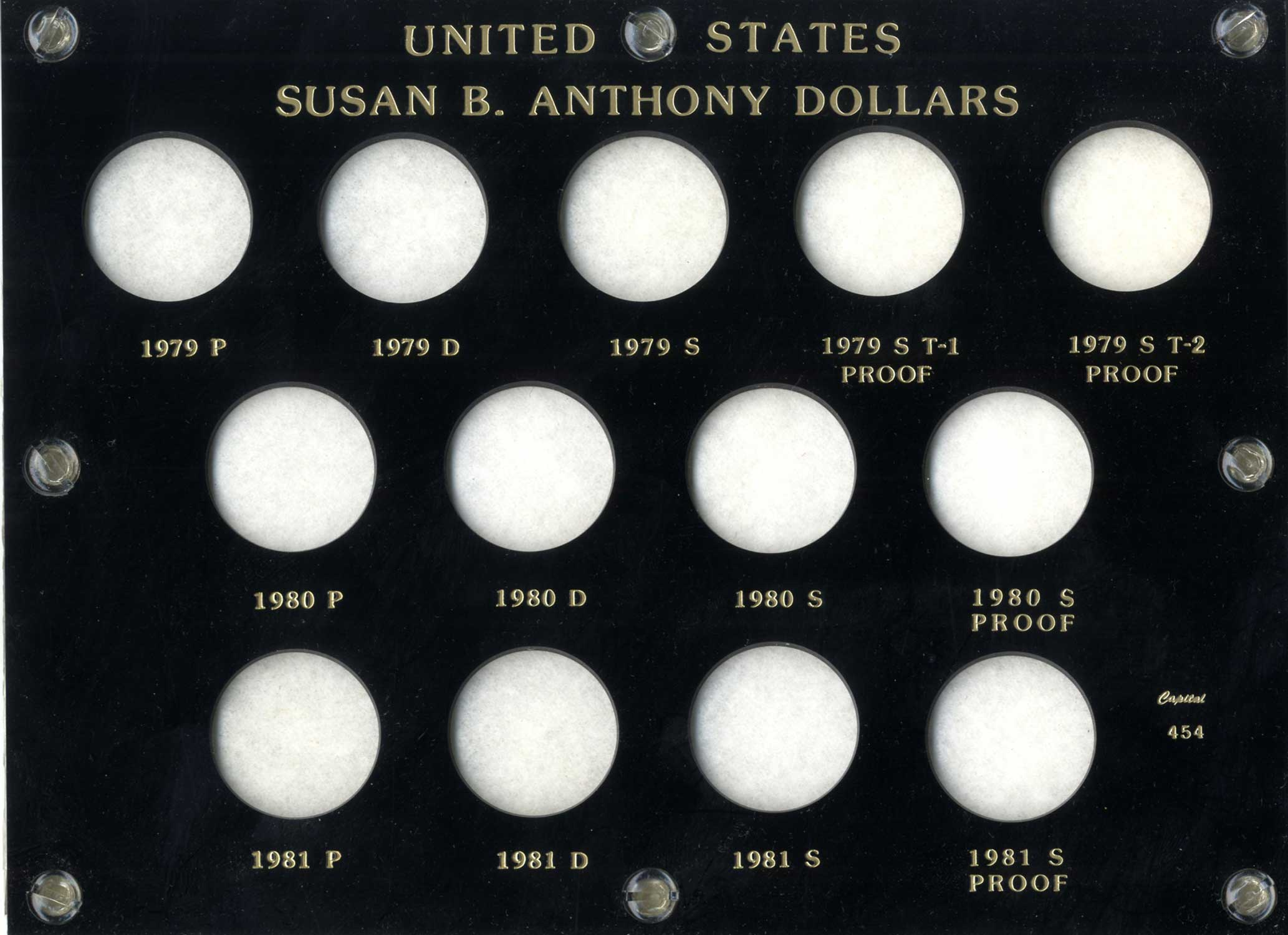 CAPITAL #454 SUSAN B ANTHONY DOLLARS 1979-1981 - Subway