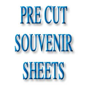 Pre-Cut Sizes Souvenir Sheets
