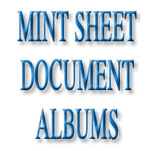 Mint Sheet/Document Albums