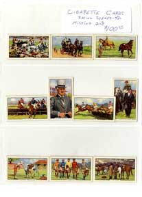 CIGARETTE CARDS RACING SCENES 48