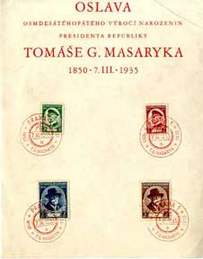 CZECHO 1935 85TH BIRTH PRES MASARYKA