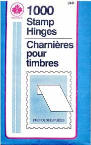 UniSafe Prefolded Stamp Hinges, package of 1000 hinges